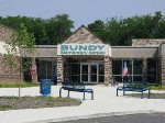 The main entrance of Bundy Elementary School, after its 2002 renovation.